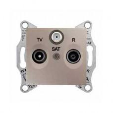 TV+R+SAT zásuvka priebežná,4dB, IP20, titán, SDN3501468