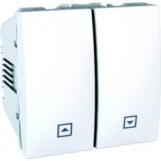 ovládač žalúzií tlačidlový Schneider Unica MGU3.207.18 polárny biely