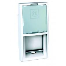 kryt dátovej zásuvky polmodul Schneider Unica MGU9.461.18 polárny biely