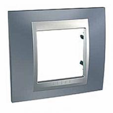 1rámik metalická šedá Schneider Unica Top MGU66.002.097 pre hliníkové vypínače