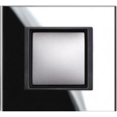 1rámik black mirror Schneider Unica Class MGU68.002.7C1 pre grafitové vypínače