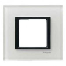 1rámik white glass Schneider Unica Class MGU68.002.7C2 pre grafitové vypínače