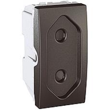 zásuvka vidlicová Schneider Unica MGU3.031.12 grafitový polmodul