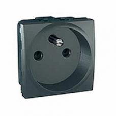 zásuvka 2P+PE grafitový modul 250V, 16A, IP20, MGU3.039.12