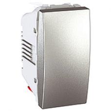 vypínač č.1 Schneider Unica MGU3.101.30 hliníkový polmodul