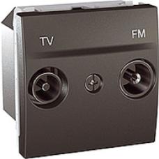 TV+RD koncová zásuvka, grafitový modul, IP20,MGU3.452.12