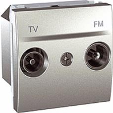 TV+RD koncová zásuvka, hliníkový modul, IP20,MGU3.452.30