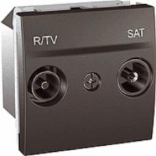 SAT+TV/RD samostatná (hviezdica) zásuvka, grafitový modul, IP20, MGU3.454.12