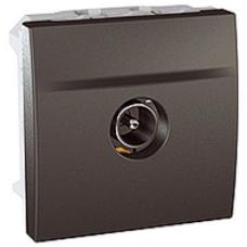 TV koncová zásuvka tienená, male/female, grafitový modul, IP20,MGU3.464.12