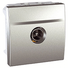 TV koncová zásuvka tienená, male/female, hliníkový modul, IP20,MGU3.464.30