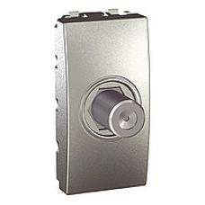 TV zásuvka F-konektor Schneider Unica MGU3.468.30 hliníkový polmodul