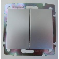 vypínač č.5 Legrand Valena hliník 770105