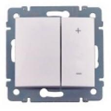 stmievač tlačidlový Legrand Valena neutral 770074 biely