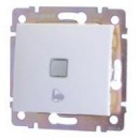tlačidlo zvonček Legrand Valena neutral 774215 podsvietené biele