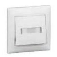 tlačidlo s držiakom štítkov Legrand Valena neutral 774217 podsvietené biele