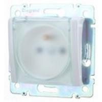 zásuvka s krytom IP44 Legrand Valena neutral 774221 biela