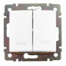 tlačidlo ovládania žalúzií Legrand Valena neutral 774414 biele